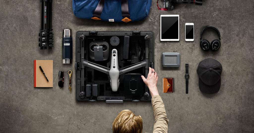 Drone drive for backing up footage