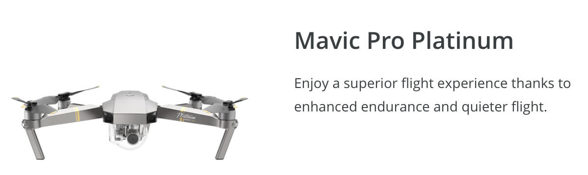 DJI Mavic Pro Platinum Winter Drone Deal