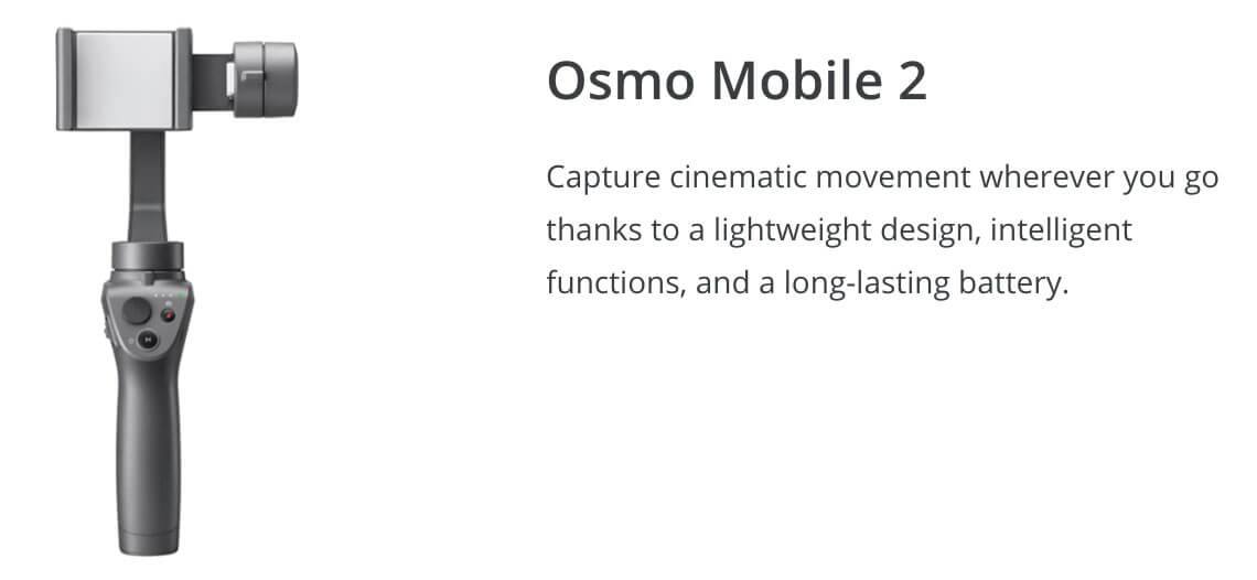 DJI Osmo Mobile 2 Winter Drone Deal